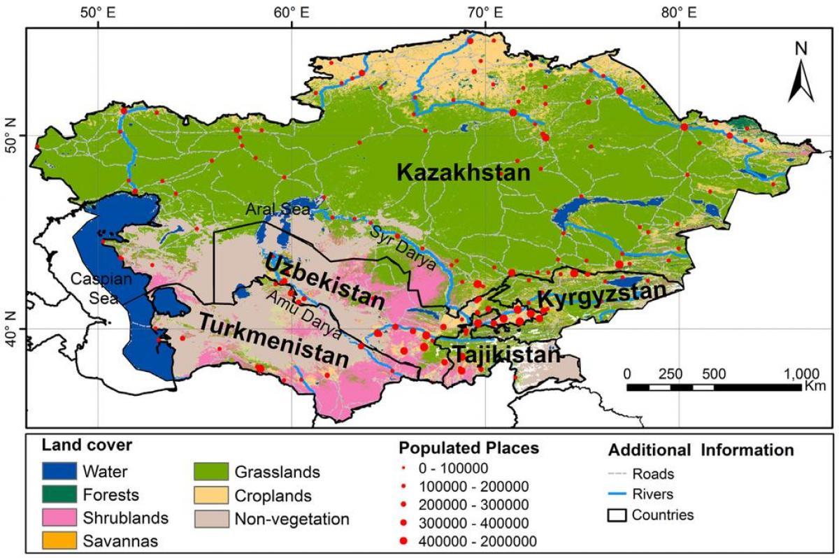 какое место по территории занимает казахстан